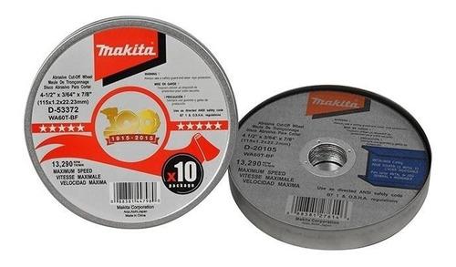 discos de corte 4 1/2  - 115mm makita - pack x 10 unidades