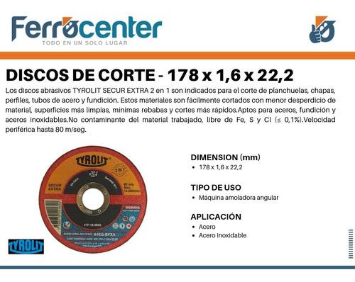 discos de corte tyrolit secur extra 178x 1,6mm x un. oferta!