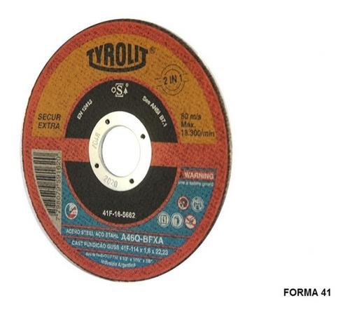 discos de corte tyrolit secur xtra 114x1,0mm x 25un. oferta!