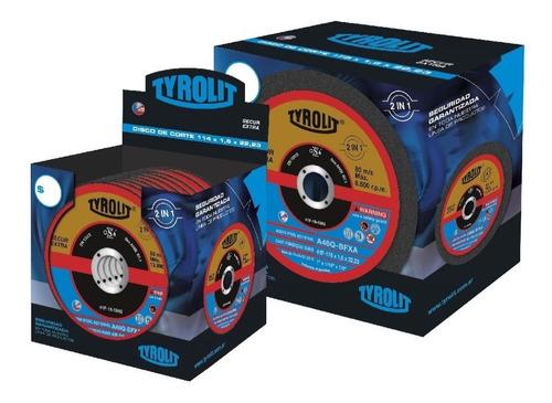 discos de corte tyrolit secur xtra 178x1,6mm x 25un. oferta!