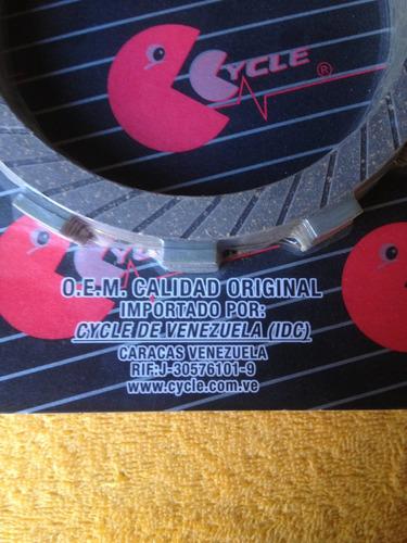discos de croche klr 650 kawasaki (juego completo)