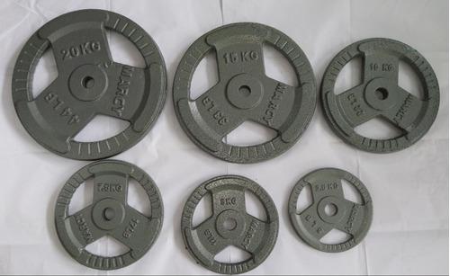 discos de pesas 2.5/5/7.5/10/15/20 kg para gimnasio