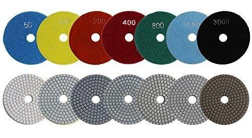 discos de pulido de diamante mojado diaki disco 4 pulgadas 7