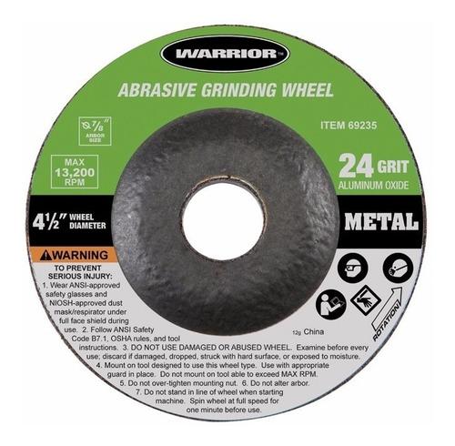 discos de pulir metal: kit/10 warrior 4 1/2 24 grit/granos!