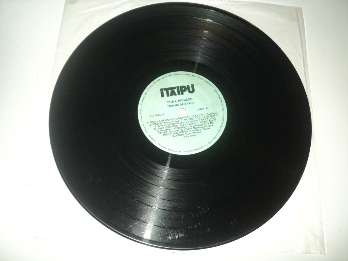 Discos De Vinil Bob E Robson Toalha De Banho R 49 90 Em