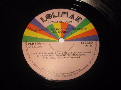 discos de vinilo, acetato, lp orq la banda y su salsa joven