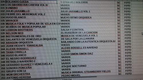discos de vinyl , temas variados.lista #2