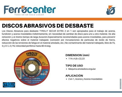 discos desbaste tyrolit 114 x 4,8 mm x 10 unidades - oferta!