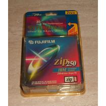 Discos Zip 250 Fujifilm Paquete De 2 Discos Original Sellado