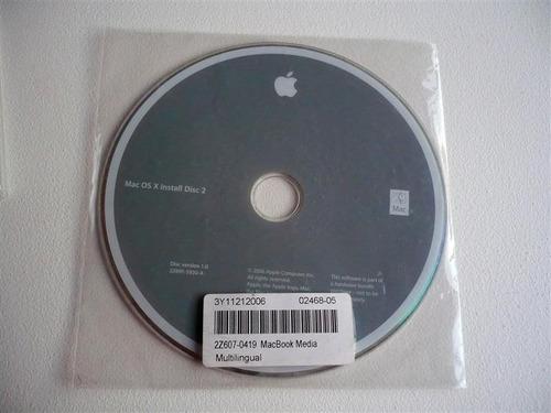 discos dvd de recuperación originales apple macbook