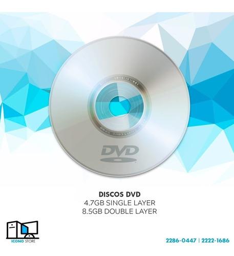 discos dvd varias marcas normal y doble capa imprimible