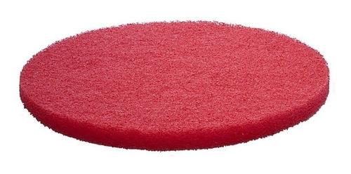 discos fibras rojos para pulidora de pisos de 17 pulgadas 5 piezas compatible con restregadoras fregadoras de pisos