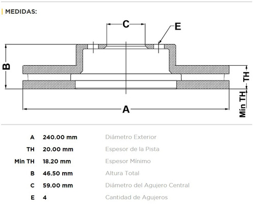 discos freno bar fiat siena palio 1.4 uno fire 1.3 8v kit 2