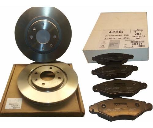 discos freno del + pastillas peugeot 207 1.9 diesel original