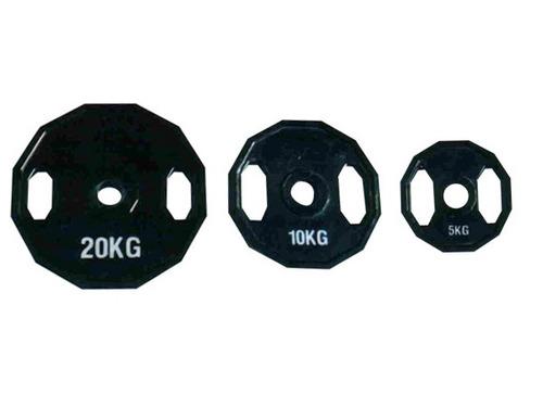 discos fundición olimpicos engomados 1 kg goma crossfit