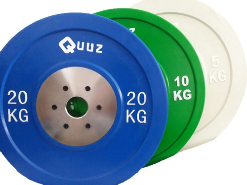 discos goma bumper olimpico crossfit pesas 15kg