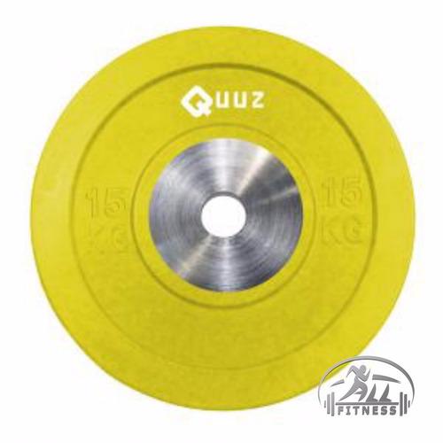 discos goma bumper olimpico crossfit pesas 15kg  x kg