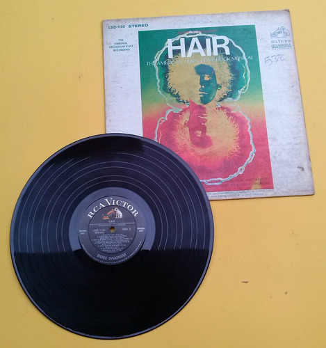 discos @ hair the american tribal love rock musical  vinilo