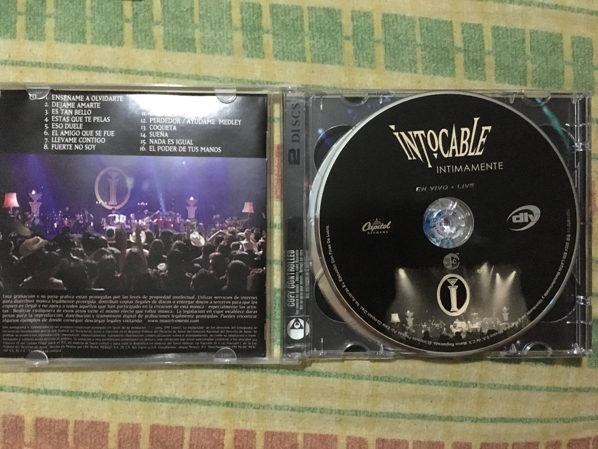 intocable intimamente dvd