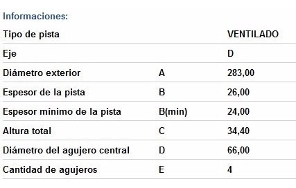 discos racing tuning peugeot 3008 citroen berlingo del (par)