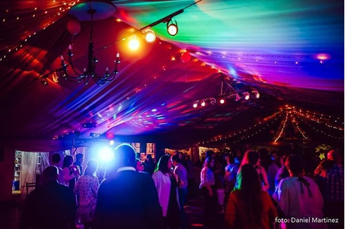 discoteca dj audio iluminación amplificación pista led