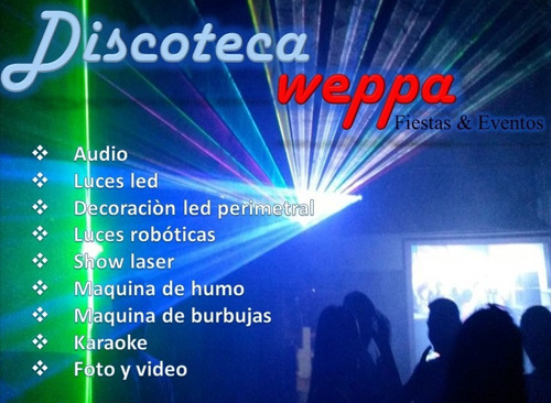 discoteca - fiestas - eventos - dj - karaoke -  pista led -