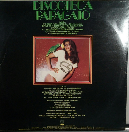 discoteca o papagaio - lp disco club som livre 1978 n. 332
