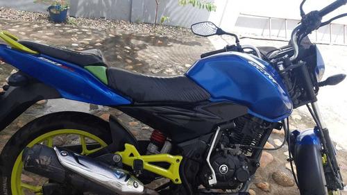 discover 150 azul con rines verdes