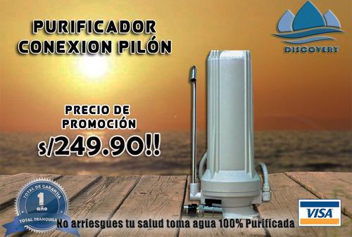 discovery filtro de agua conexión pilón