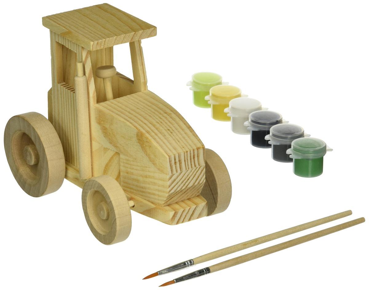 Discovery Kids Pinta Tu Propio Juego De Tractor De Madera 47 599