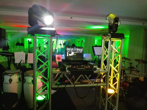 discplay dj sonido, miniteca,  ilumunacion, truss