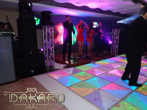 discplay sonido luces pantalla led y pista de baile led