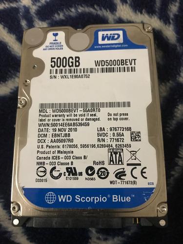 discu duro para laptop de 500 gb