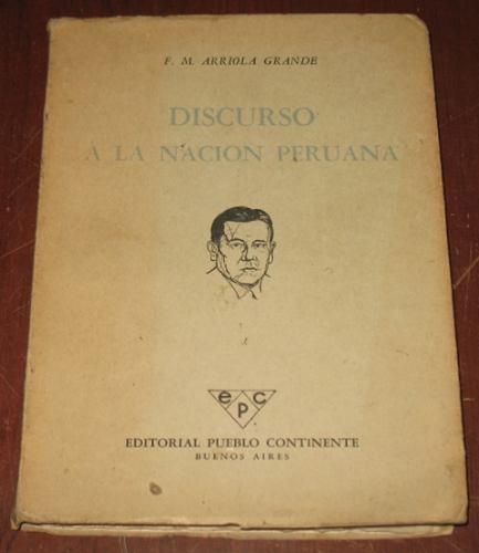 discurso a la nación peruana arriola grande 1959 europa