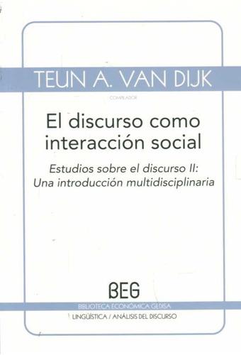 discurso como interacción social / van dijk (envíos)