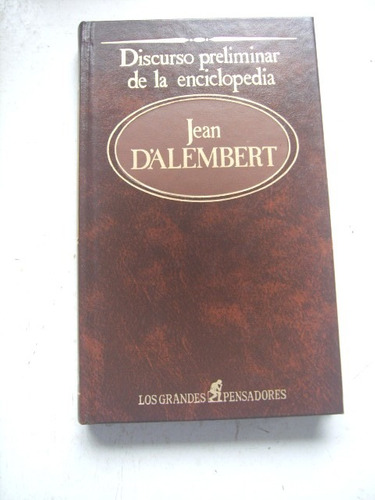 discurso preliminar de la enciclopedia de jean d alembert