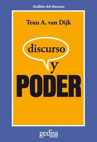 discurso y poder, van dijk, ed. gedisa