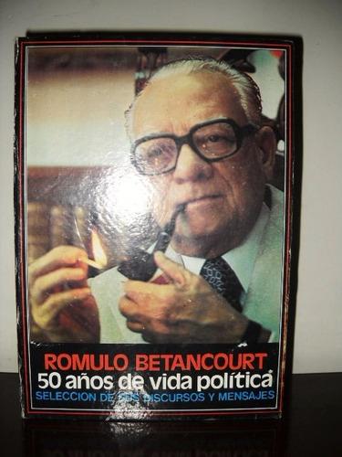 discursos y mensajes de romulo betancourt ( 8 cassettes)