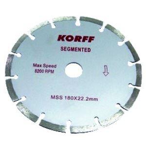 dis.diamant.segment-corte seco(buje22,2mm) korff mss300mm