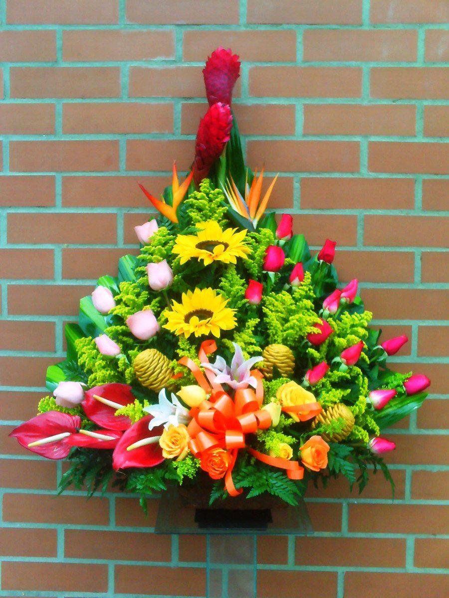 Diselo Con Arreglos Florales Rosas Girasoles Orquideas 110000 - Imagenes-de-arreglos-florales