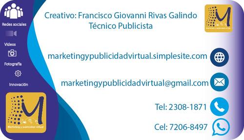 diseñador gráfico, creación de vídeo, fotografía.