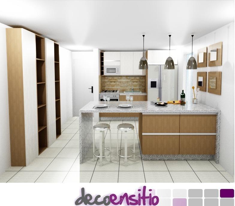 Diseño 3d Render Planos Boceto Bosquejo Cocinas