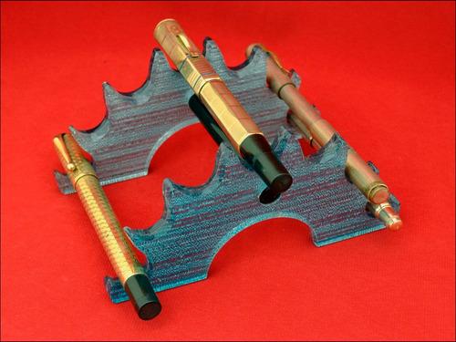 diseño ariel kullock celeste perlado p/7 estilográficas #123