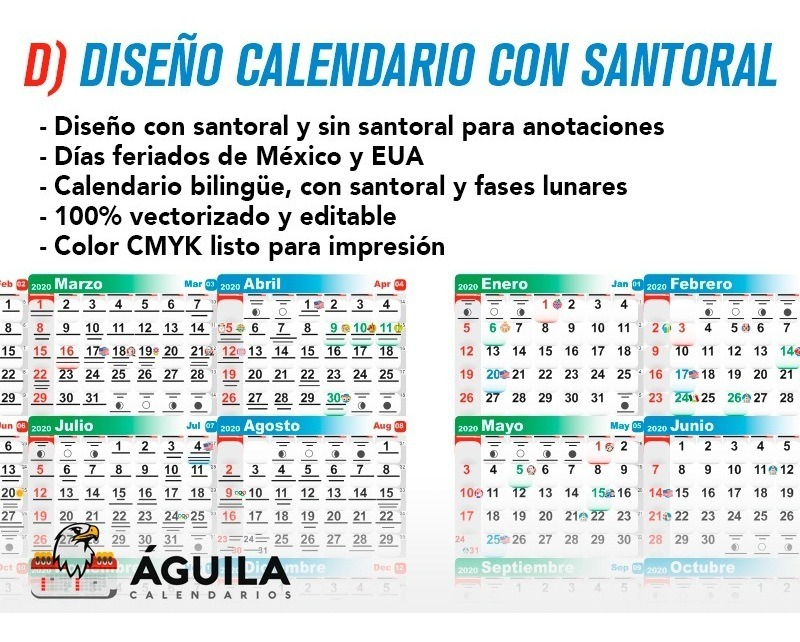 Calendario Santoral.Diseno Calendario 2020 Santoral Mensual Bimestral Bolsillo