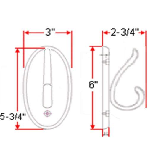 diseño casa 561217 dalton doble túnica gancho , miel roble