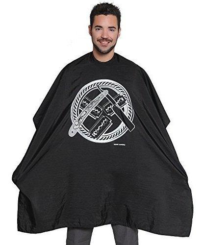 diseño circular de mane caper negro capa calidad profesiona