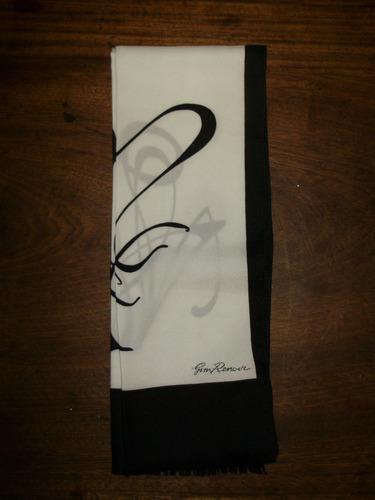 diseño clasico chalina pañuelo gim renoir 155 cmts x 25 cmt