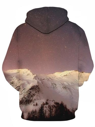 diseño creativo nieve montaña galaxia impresión jersey ca