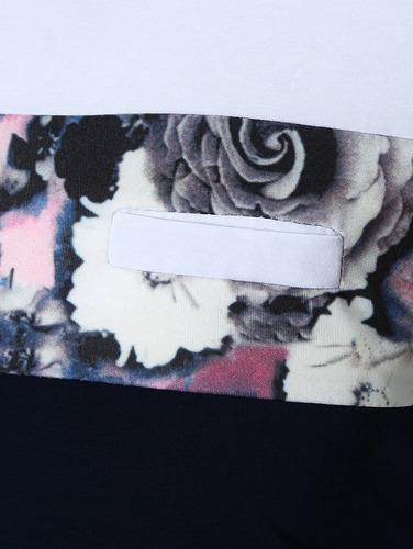 diseño creativo rose impresión panel faux bolsillo henley