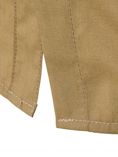 diseño creativo turndown collar tartán recortar casual cam